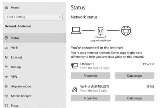 Cosa c'è nuovo Windows 10 2004, Aggiornamento Maggio 2020 (20H1)? Tutte novità funzioni upgrade (video) - windows 20h1 stato rete