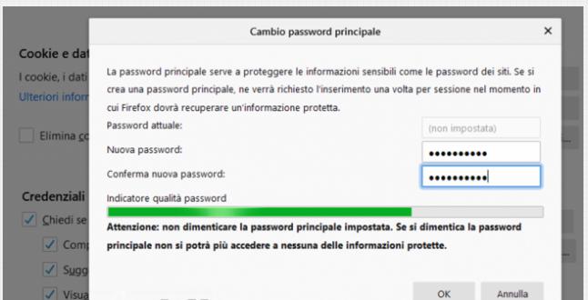 Come esportare proteggere password memorizzate Firefox 79